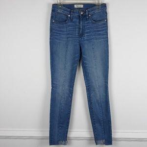 """9"""" High-Rise Skinny Crop Jeans: Destructed-Hem"""